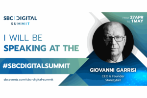 GIOVANNI GARRISI (CEO STANLEYBET AND MAGELLAN ROBOTECH) CONFIRMED AT SBC DIGITAL SUMMIT